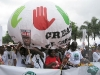 Groß dabei: Das Netzwerk CIDSE mit großem Ballon