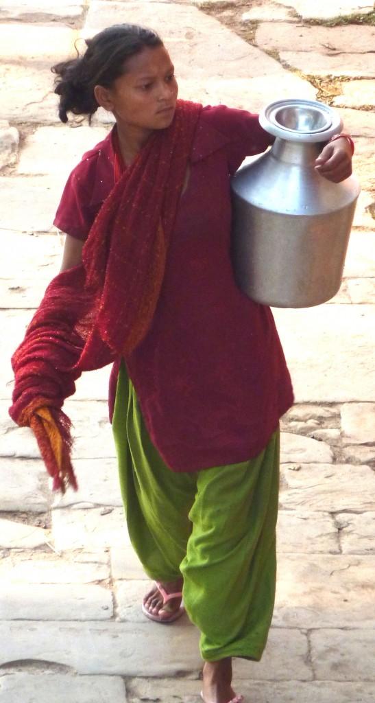 Frauen in Nepal erleben häufig häusliche Gewalt.