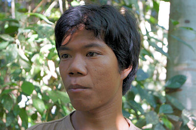 """Setzt sich gegen den Nationalpark zur Wehr: Mijak """"Tampung""""."""