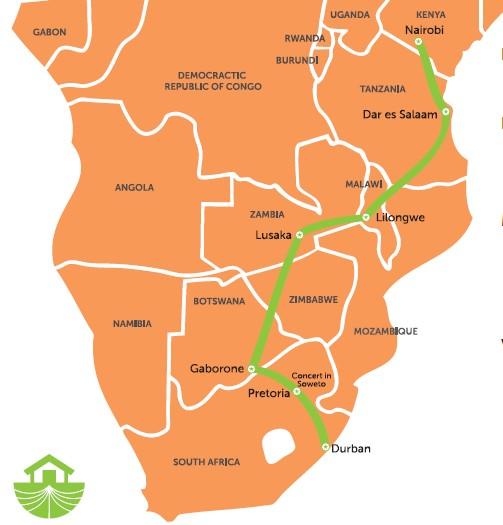 """Quer durch Afrika: Jugendliche tourten für die """"We have faith""""-Kampagne von Kenia bis Südafrika"""