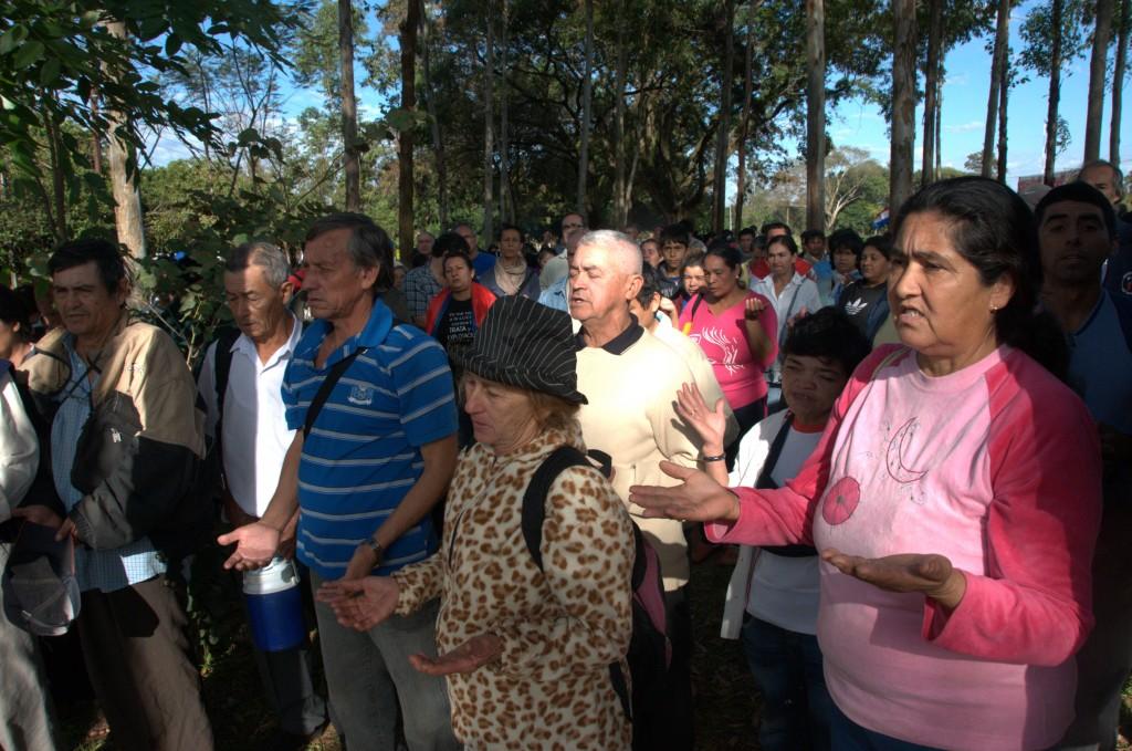 Mut zu Taten in Paraguay: diMut zu Taten in Paraguay: die Campesinos gehen für ihre Rechte und ihr Heimatland auf die Straße. Foto: Baumann/MISEREOR