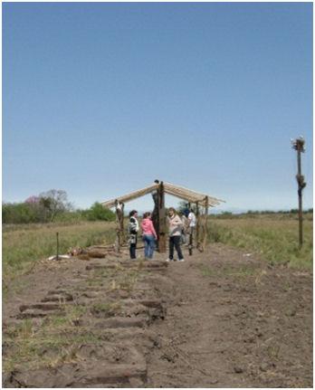 Archäologisches Arbeiten auf dem Feld