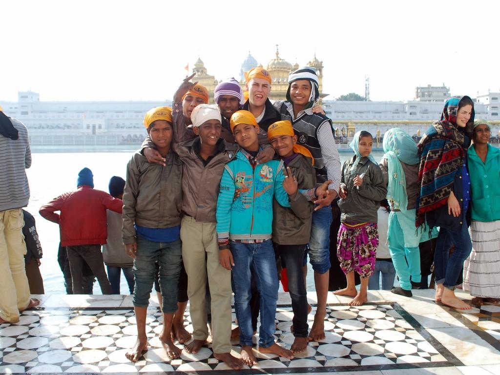 Der goldene Tempel von Amritsar und die Butterflies