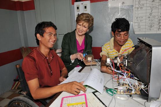Das Banteay-Prieb-Ausbildungszentrum-in Kambodscha für Menschen mit Behinderung © Ursula Dornberger