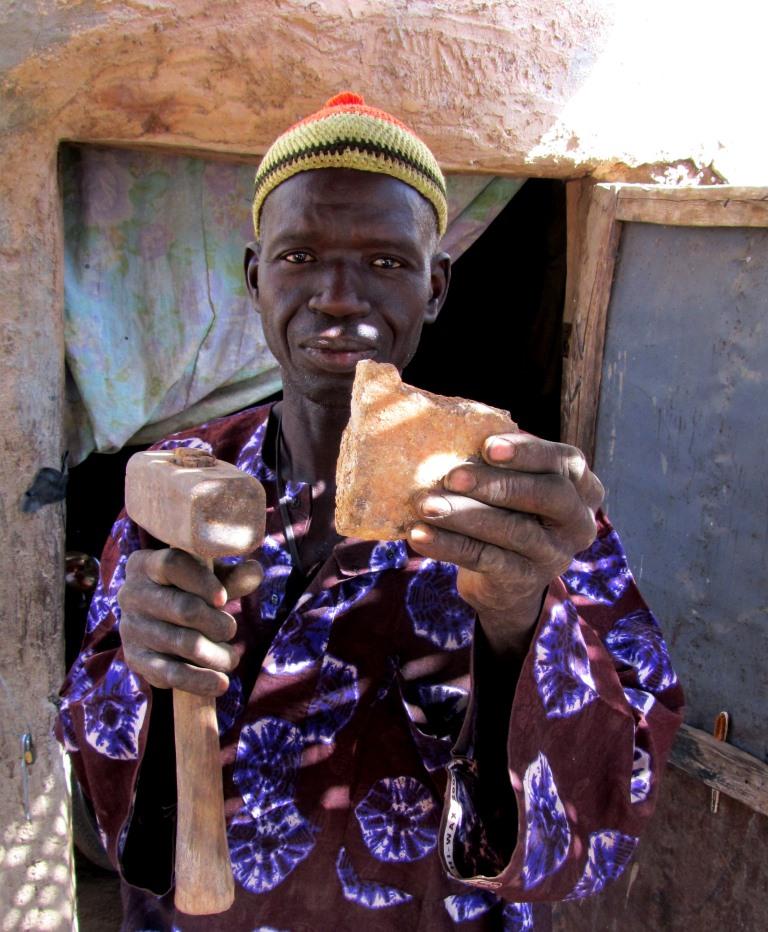 Goldgräber im Senegal