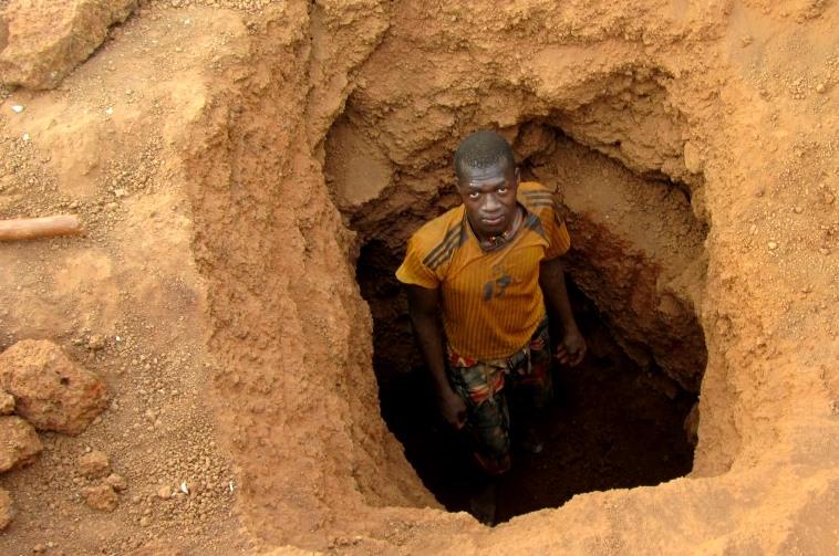 Goldgräber in Burkina Faso