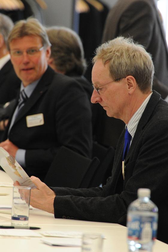 Gemeinsam mit MISEREOR lud Johannes Zurnieden zum Unternehmensforum ein. © Radtke/KNA