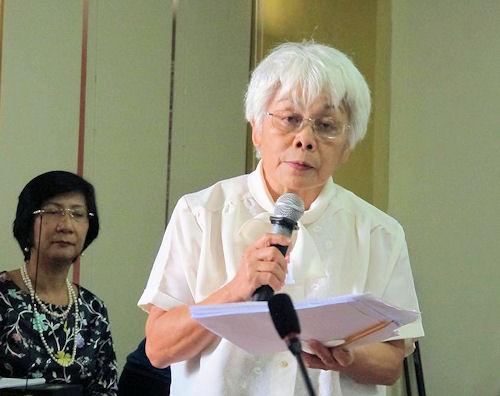 Die Leiterin der Nationalen Kommission der Indigenen Gemeinschaften (NCIP).