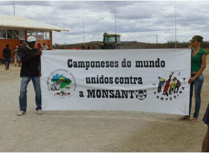 Campesinos besetzen Monsantoflächen in Brasilien