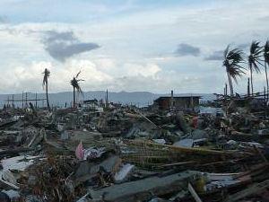 Kahl und farblos sind die Landstriche, über die der Taifun hinweggezogen ist.