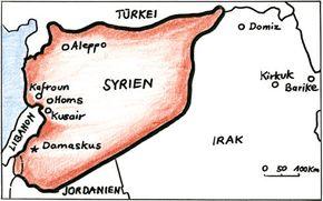 Karte:  Flüchtlingslager Dormiz im Nordirak