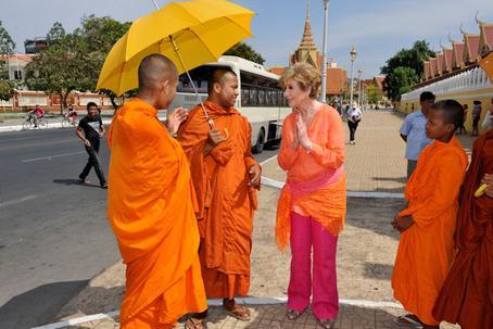 Sok sebai te, wie geht es Dir? So heißt die traditionelle kambodschanische Begrüßung in der lokalen Sprache Khmer.