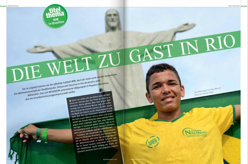 Die Welt zu Gast in Rio: Titelthema der Ausgabe MISEREOR aktuell 3/2014