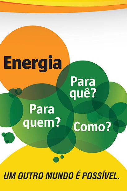 Flyer des thematischen Sozialforums FTS-Energie