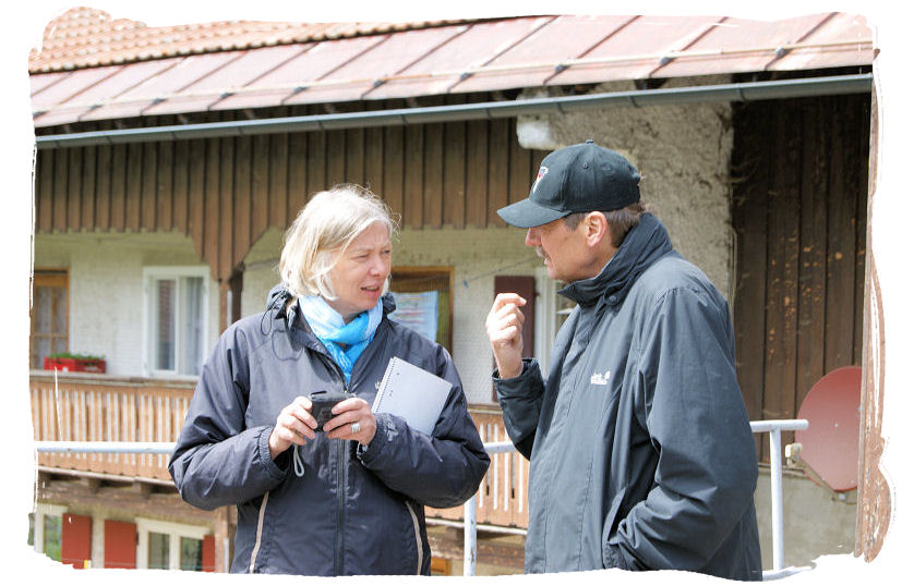 Kerstin Lange und Willi Thees von MISEREOR.