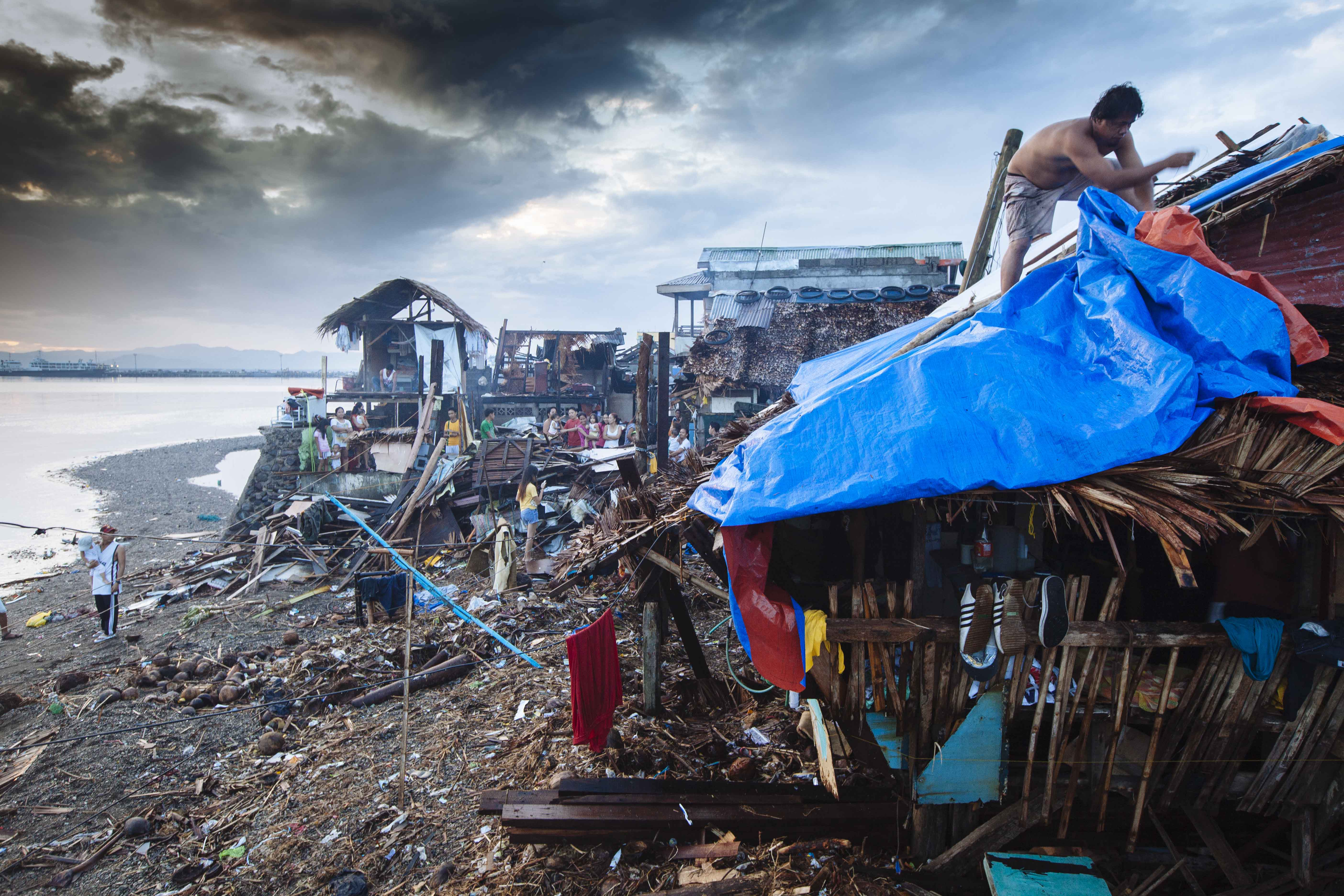 Zerstörungen auf den Philippinen nach Taifun Yolanda.