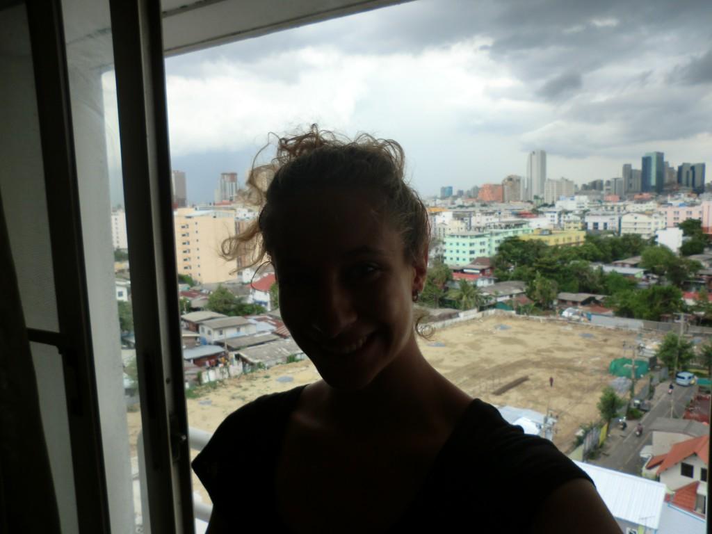 Blick aus unserer Wohnung im 10. Stock