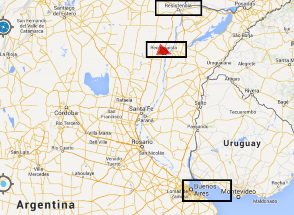 Reiseroute: Von Buenos Aires über über Reconquista in meine neue Heimat Resistenca...