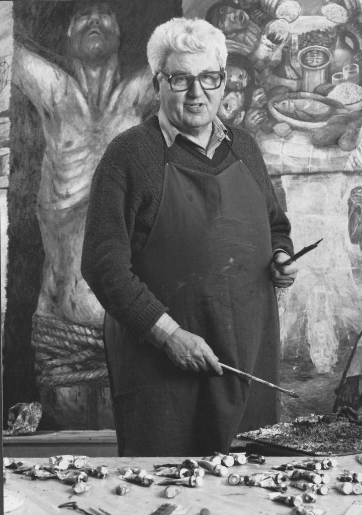 Sieger Köder, einer der bekanntesten Maler christlicher Kunst.