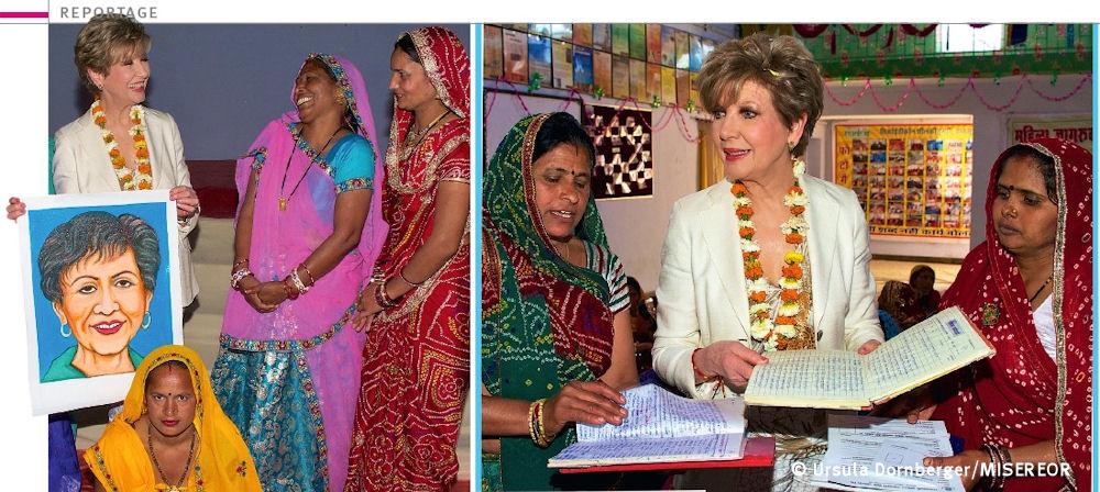 Carolin_Reiber_mit_Portrait_in_Indien_c_Ursula Dornberger