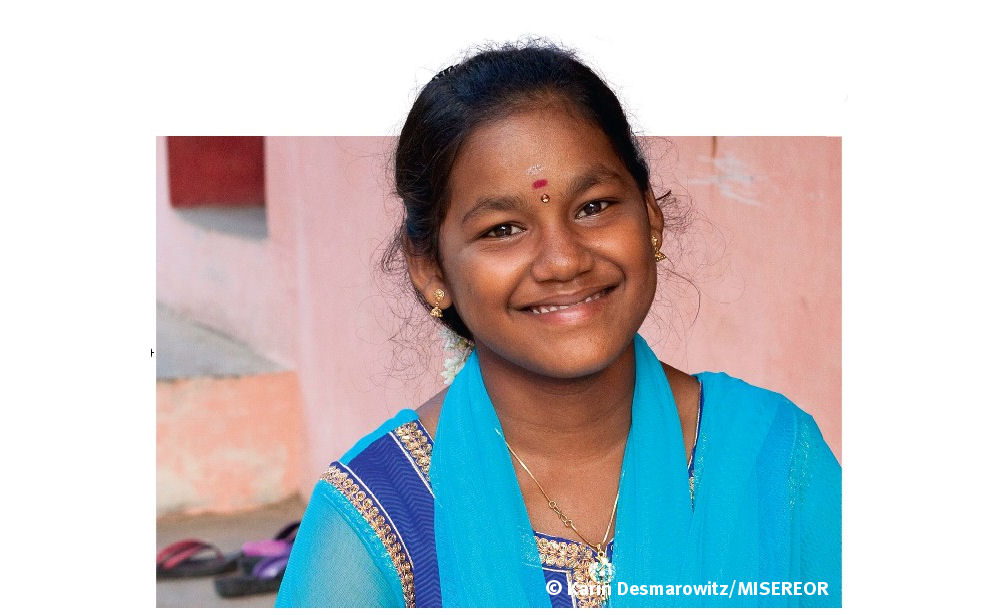 Glück im Unglück: Am 26. Dezember 2004 lag ihr Leben in Trümmern. Jetzt kann Girija Kavitha wieder lachen.