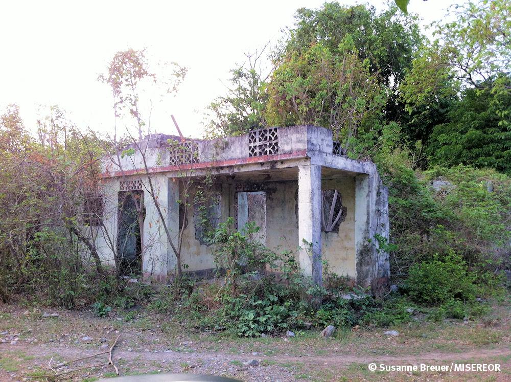 Verlassenes Haus von Vertriebenen in Cesar