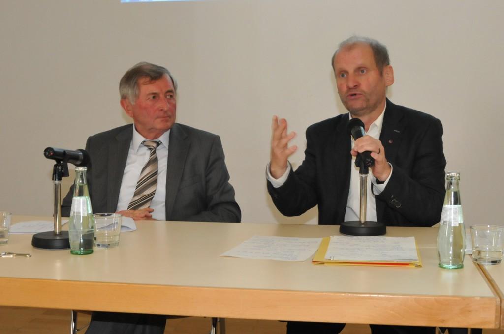 Alois Glück, ZdK-Präsident, und Pirmin Spiegel, Hauptgeschäftsführer MISEREOR