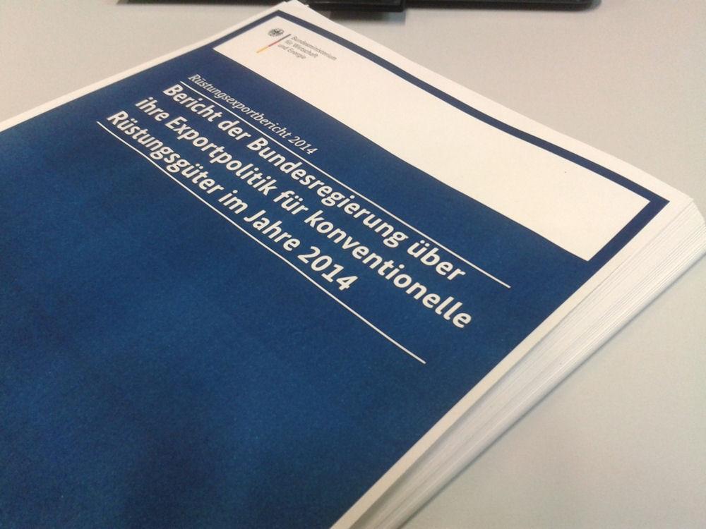 Bericht der Bundesregierung über ihre Exportpolitik für konventionelle Rüstungsgüter im Jahre 2014