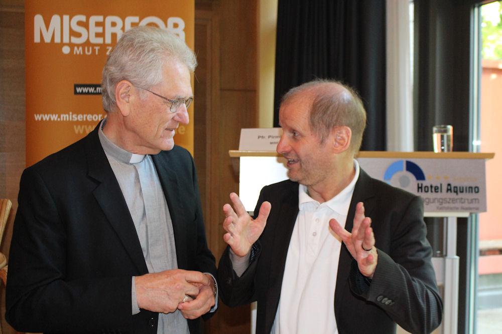 Bischof Leonardo Ulrich Steiner_Generalsekretär der brasilianischen Bischofskonferenz und Pirmin Spiegel_Hauptgeschäftsführer von MISEREOR