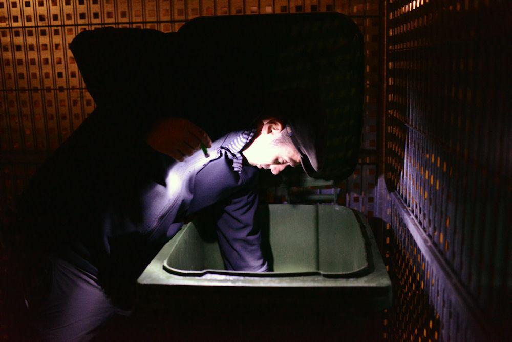 Sebastian Engbrocks auf Container-Tour © Chiara Chessa