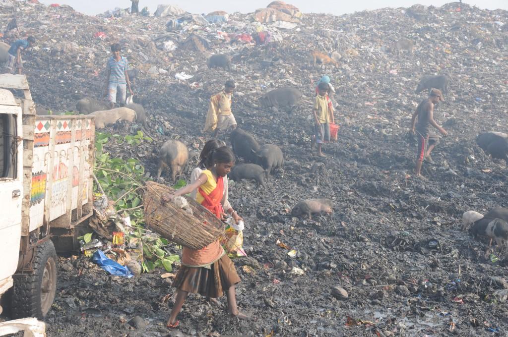 Müllkippe in Kalkutta