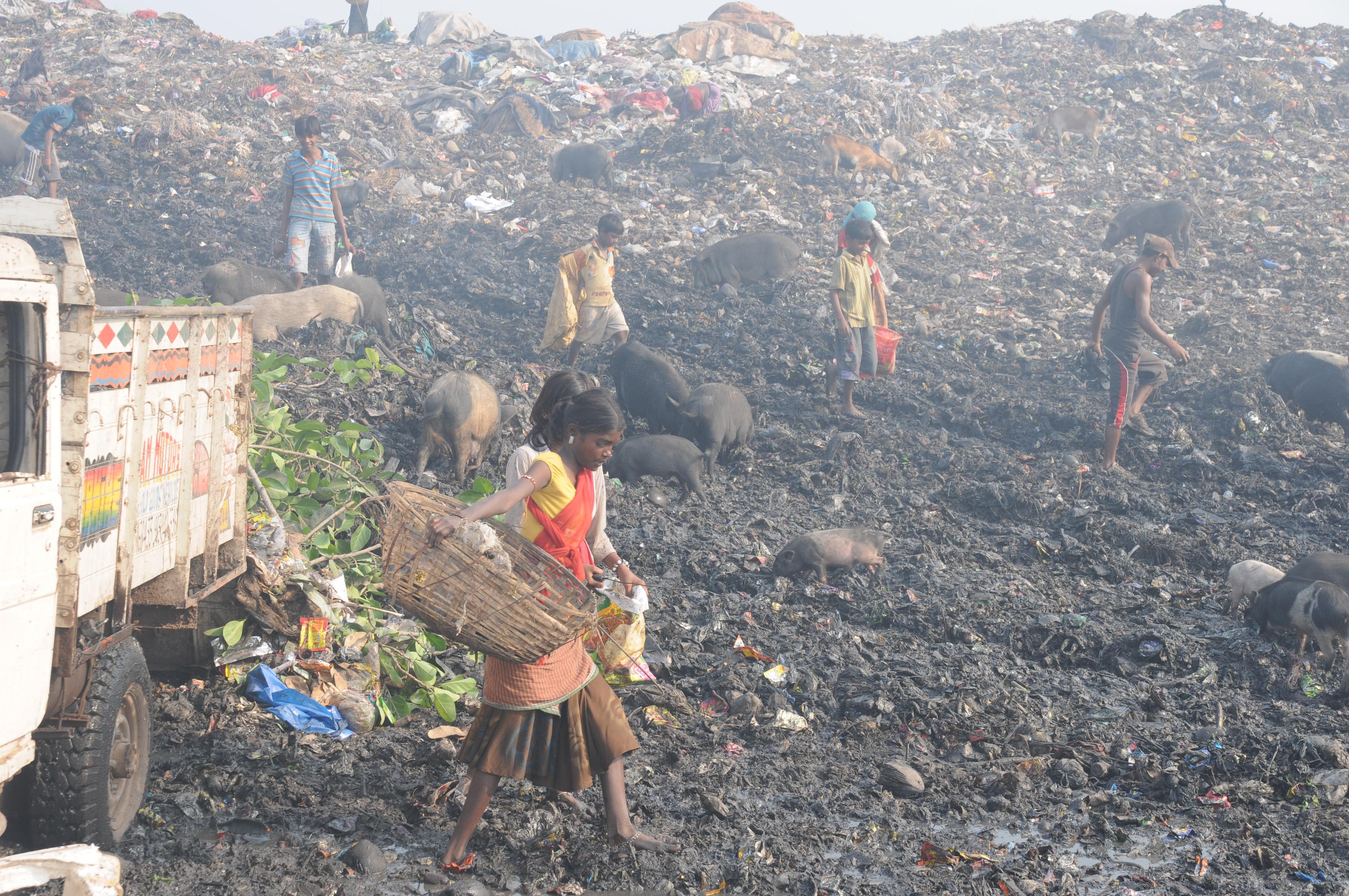Müllberg Indien
