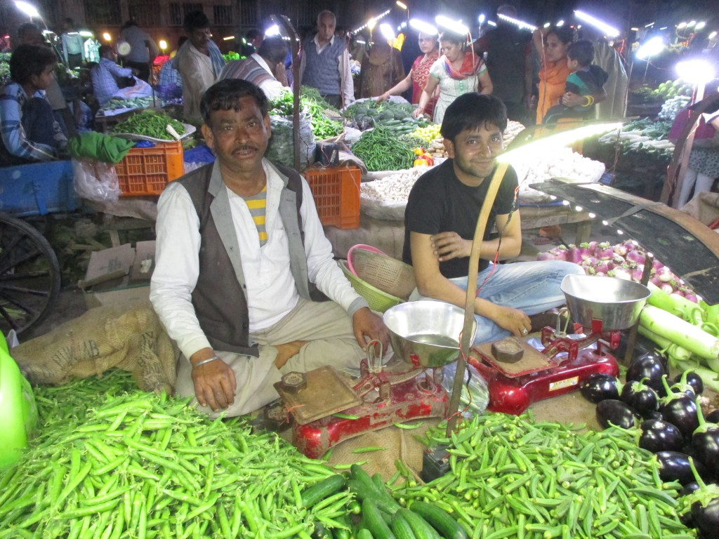 Marktverkäufer in Indien