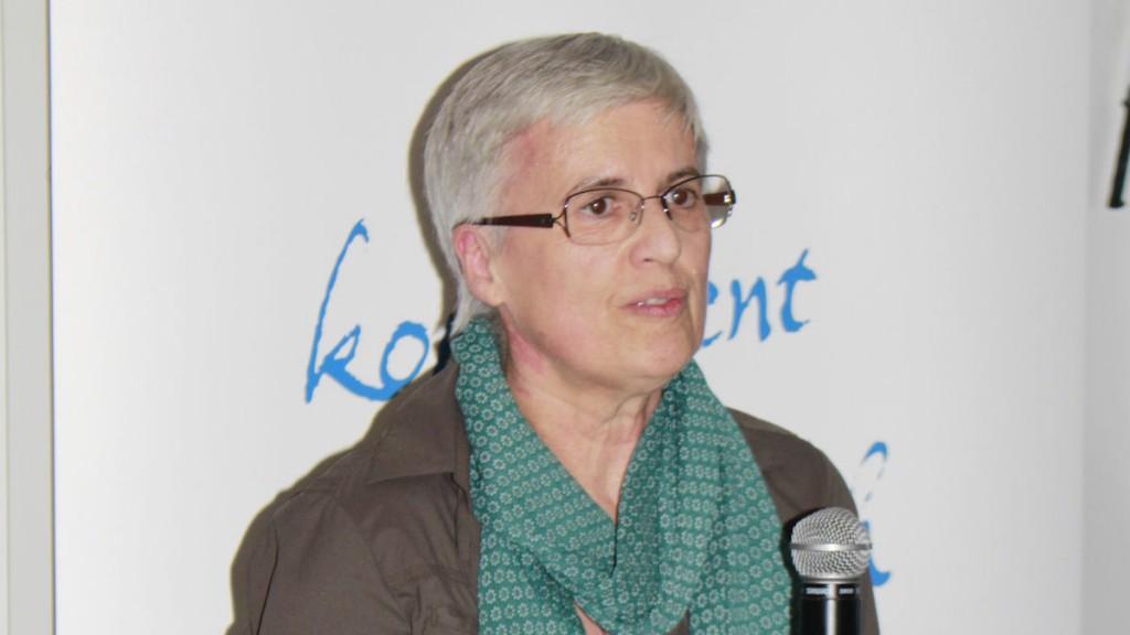 "Sr. Margit Forster, SOLWODI-Fachberatungsstelle Berlin, ""solidarity with women in distress – Solidarität mit Frauen in Not"""