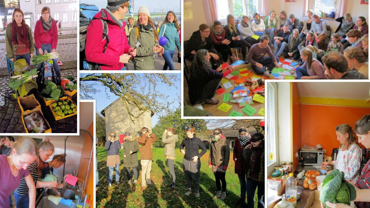 Ein Wochenende mit viel Gemüse: Freiwillige organisierten das Treffen selbst.