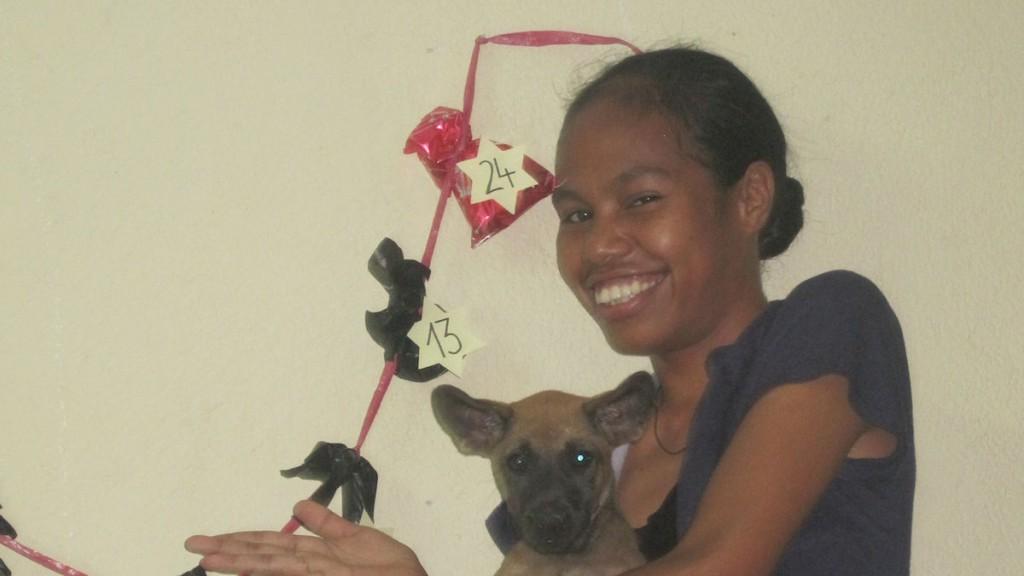 Der Adventskalender noch mal mit Betty und Hund