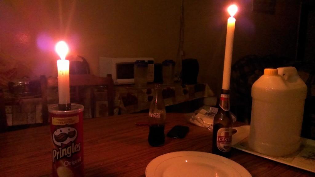 Abends ohne Strom