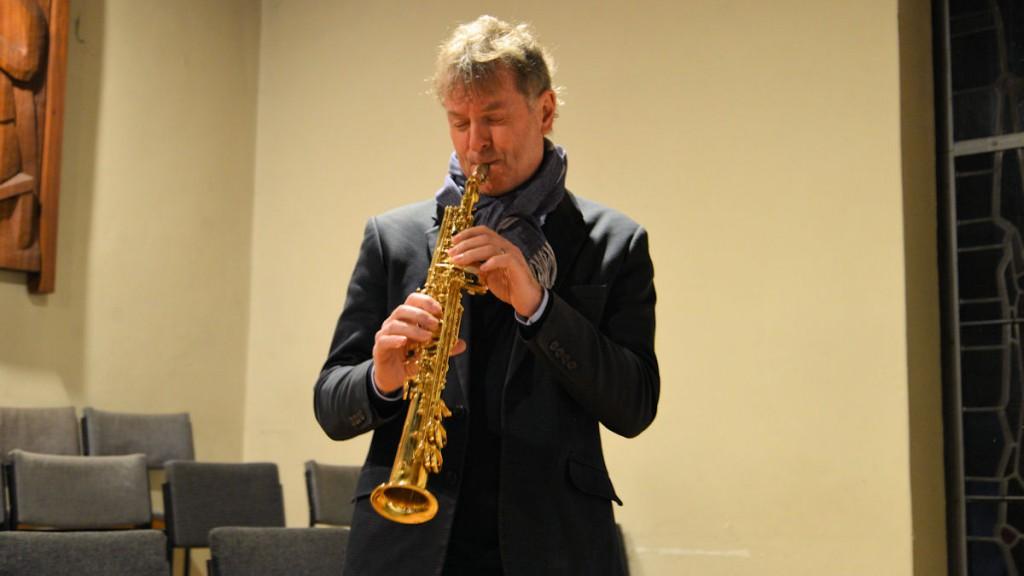 Saxophonist Heribert Leuchter sorgte für die musikalische Gestaltung © Thomas Kuller/MISEREOR
