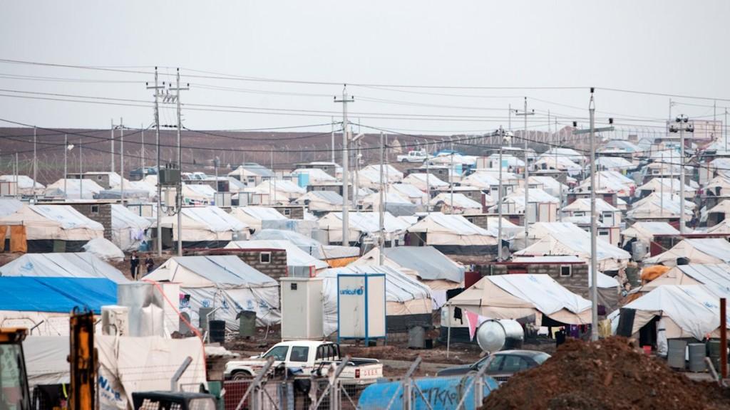 Über vier Millionen sind in die Nachbarländer Syriens geflohen. Im Bild ein Flüchtlingslager im Irak. © Harms/MISEREOR