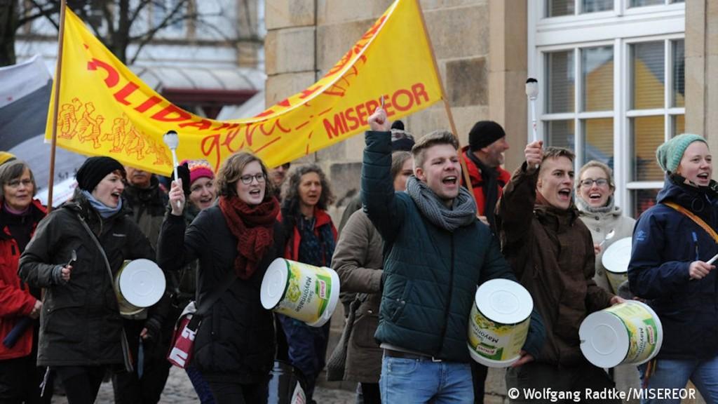 MISEREOR-Freiwilligendienst mit Trommeln in  Osnabrück