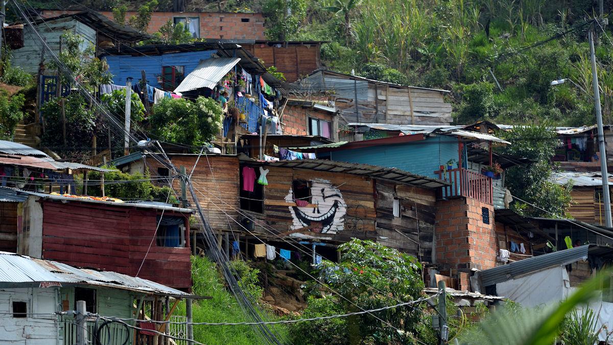 Armenviertel Comuna 8, Medellin, Departamento Antioquia, Kolumbien; Foto: Florian Kopp/Misereor