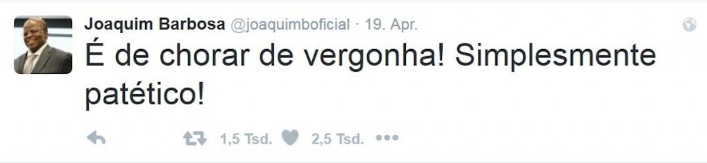twitter-Joaquim Barbosa