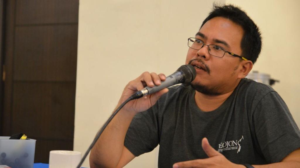 Karlon Rama, Nationaler Koordinator des Peace and Conflict Journalism Network (PECOJON) auf den Philippinen Foto Thomas KullerMISEREOR