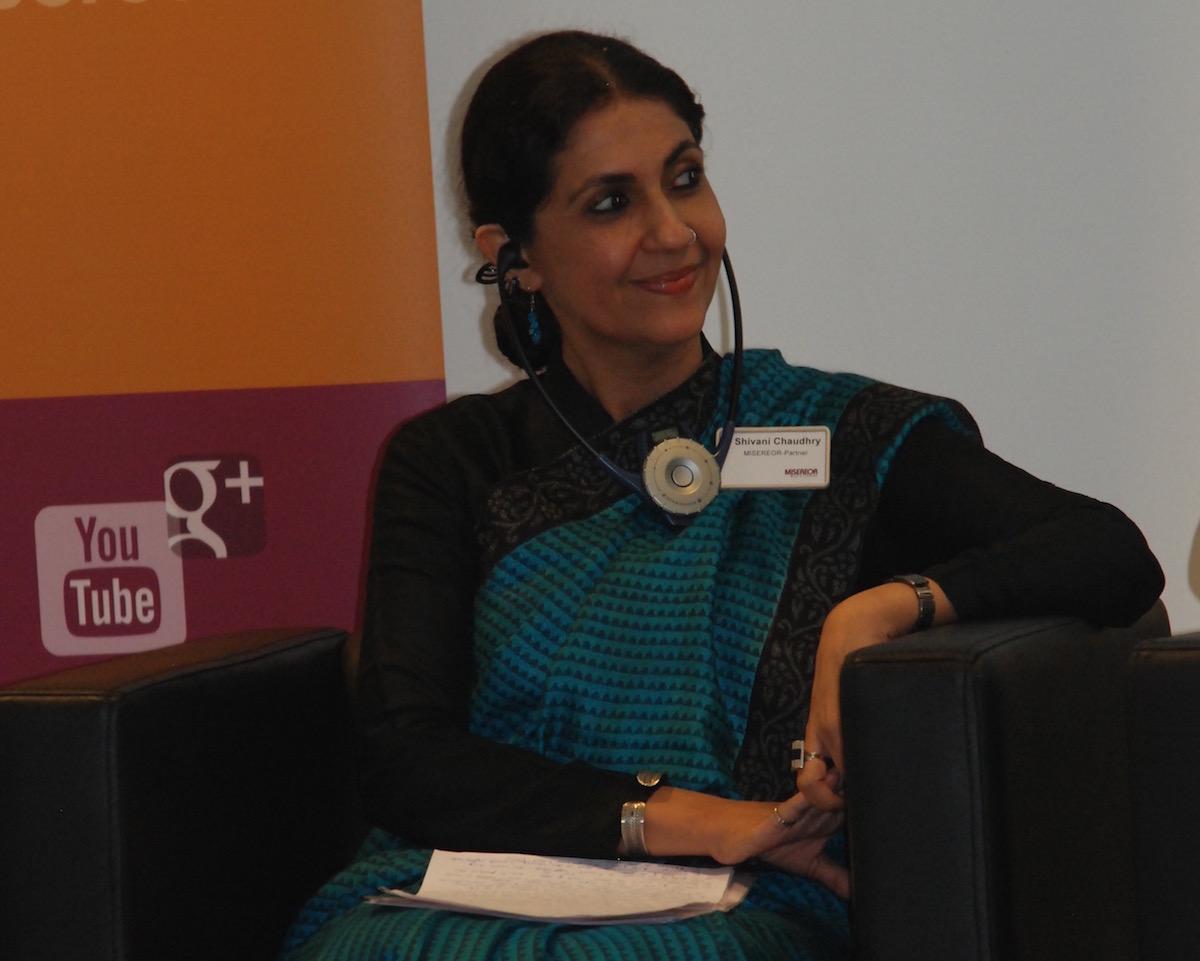"""Stadtentwicklung aus indischer Perspektive: Shivani Chaudhry ist Geschäftsführerin des """"Housing and Land Rights Network (HLRN) in Neu-Delhi. """"Der Süden erleidet die nachteiligen Effekte des Klimawandels in besonderer Weise."""" Foto: Brodbeck/ MISEREOR"""