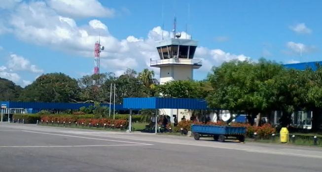Das Vorfeld des kleinen Flughafens von Monteria