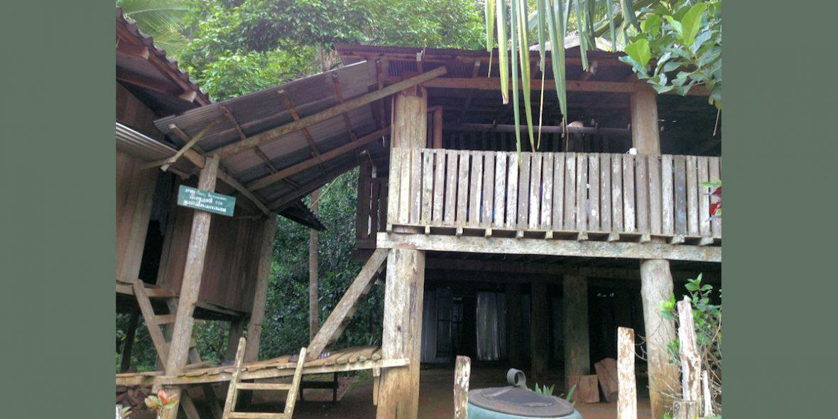 Das Haus, in dem wir unsere Nächte im Thai-Dorf Mae Torla verbringen