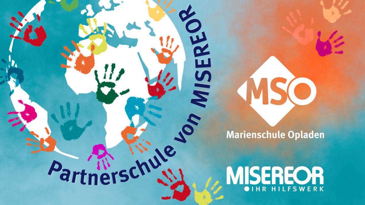 Logo der Schule und MISEREOR-Logo