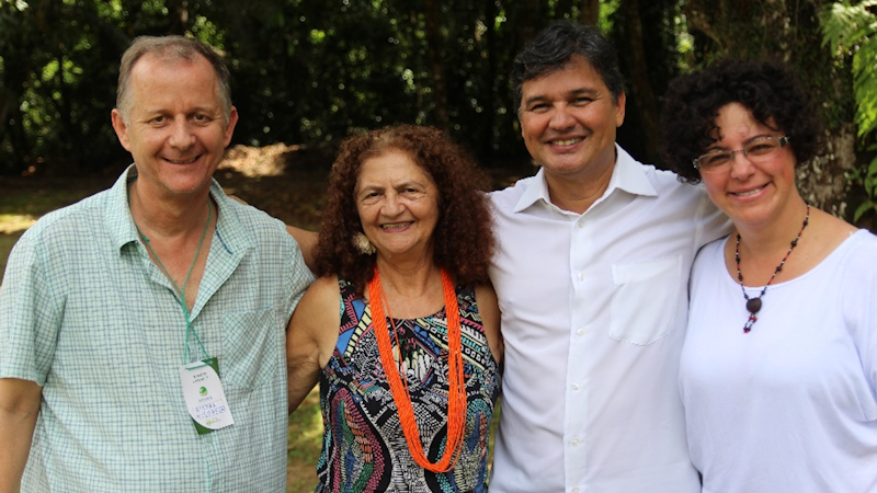 Von links nach rechts, Stefan Kramer-Misereor, Antonia Melo-Xingu Vivo Para Sempre, Felicio Pontes-Generalstaatsanwalt der Republik, Osnilda Lima-REPAM