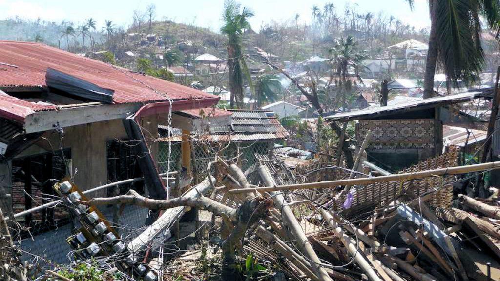 Philippinen: Zerstörung nach Taifun Hayan/Yolanda © Noé /MISEREOR