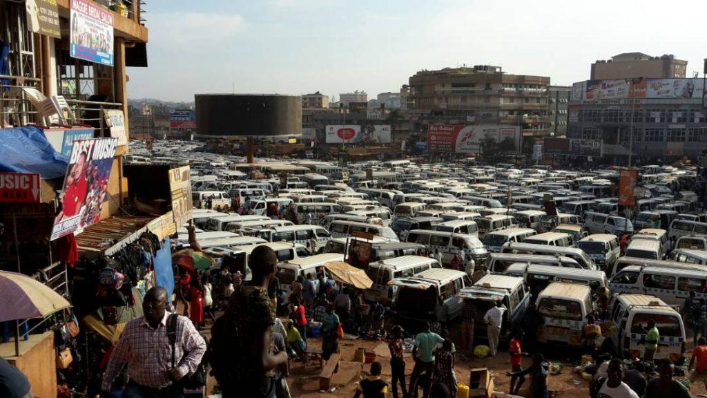Taxipark in Kampala